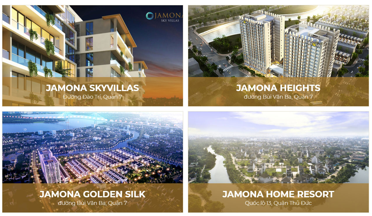 Dòng sản phẩm Jamona chủ đầu tư TTC LAND
