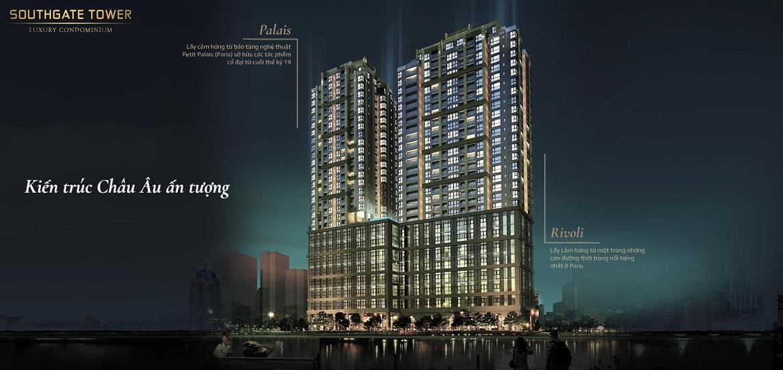 Kiến trúc Châu u ấn tượng dự án căn hộ Officetel SouthGate Tower Quận 7