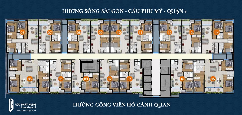 Mặt bằng thiết kế căn hộ River Panorama Quận 7 tầng 02-34