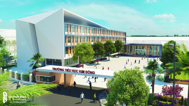 Trường Tiểu học Kim Đồng được khởi công xây dựng trên diện tích 8.000m2 vào tháng 4/2018