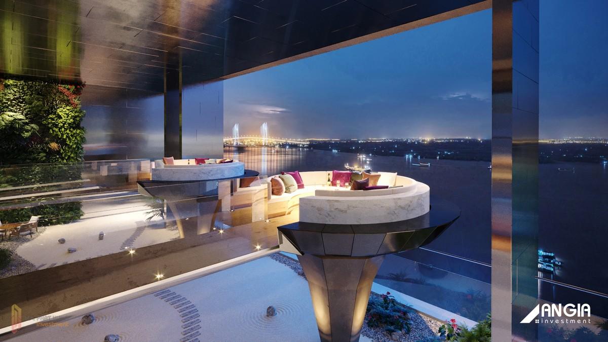 Vườn thiền trên không dự án căn hộ Sky 89 Quận 7 tại tầng 23 của dự án