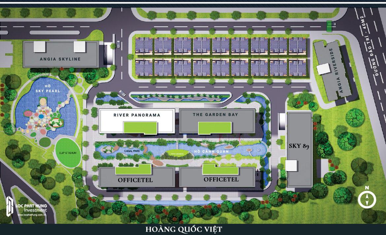 Quy mô cụm dự án An Gia Quận 7. Hiện tại Block An Gia Riverside, An Gia Skyline đã bàn giao. Block River Panoram và SKy 89 đã triển khai bán hàng tháng 09/2018. Block Officetel dự kiến triển khai bán hàng cuối năm 2018. Liên hệ 0949 893 893 để nhận thêm thông tin dự án mới An Gia
