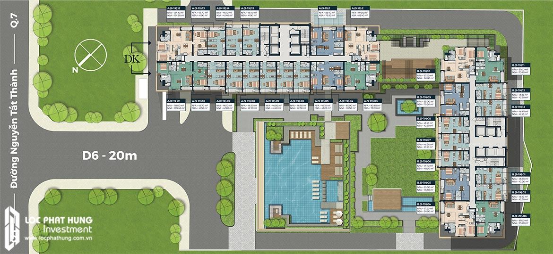Mặt bằng tầng 9-19 dự án Lancaster Lincoln Quận 4