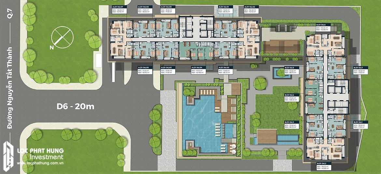 Mặt bằng tầng 31-34 dự án Lancaster Lincoln Quận 4