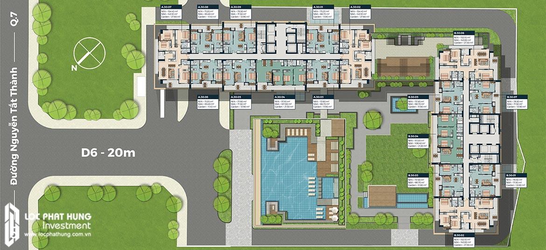 Mặt bằng tầng 30 dự án Lancaster Lincoln Quận 4