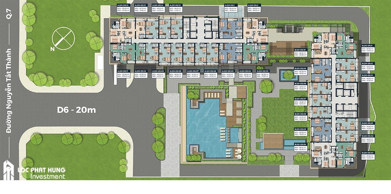 Mặt bằng tầng 20-29 dự án Lancaster Lincoln Quận 4