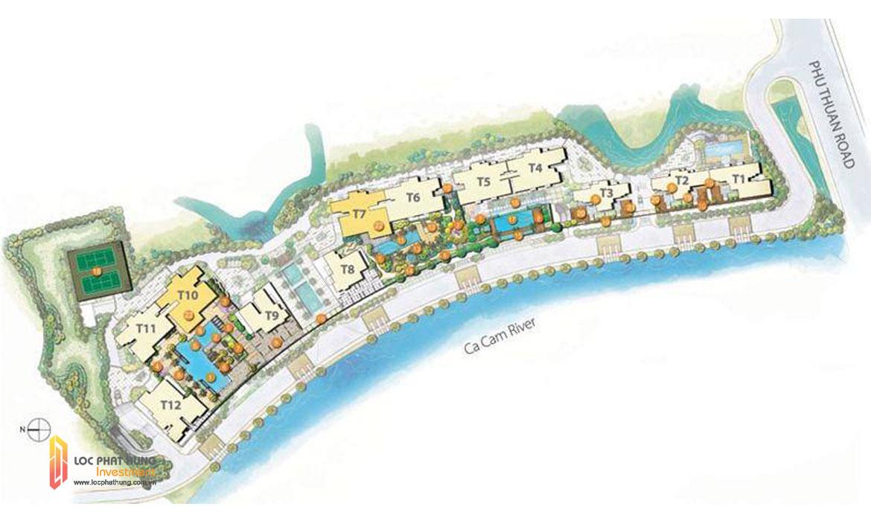 Mặt bằng dự án căn hộ chung cư The Infiniti Riviera Point Quân 7 Đường Huỳnh Tấn Phát