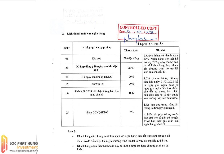 Phương thức thanh toán dự án Lancaster lincoln Quận 4