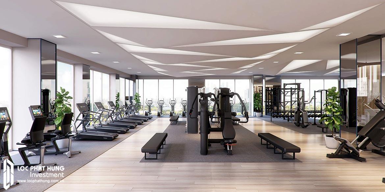 Tiện ích phòng Gym tại dự án Lancaster Lincoln Quận 4
