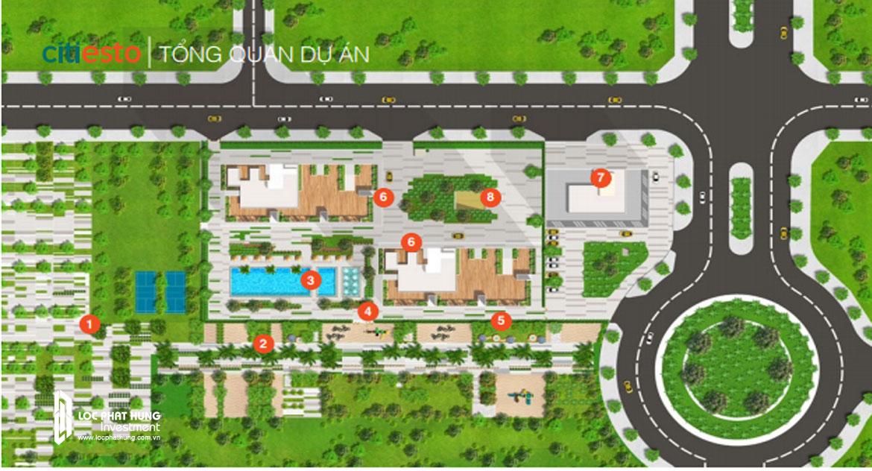 Mặt bằng dự án căn hộ Citiesto Quận 2