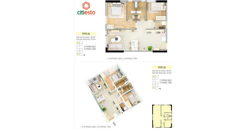 Thiết kế căn hộ dự án chung cư Citiesto Quận 2