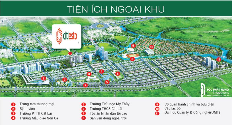 Tiện ích ngoại khu dự án căn hộ chung cư Esto quận 2