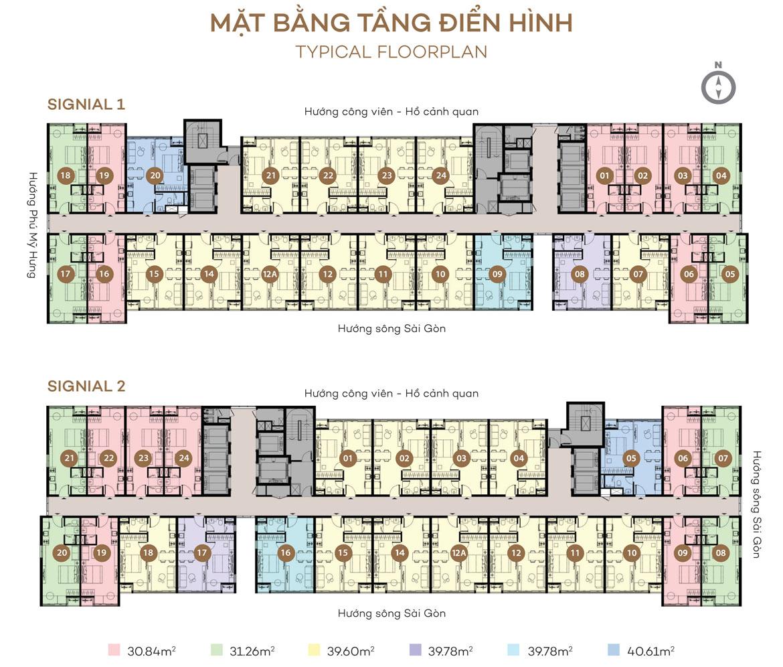 Mặt bằng căn hộ Signial Quận 7