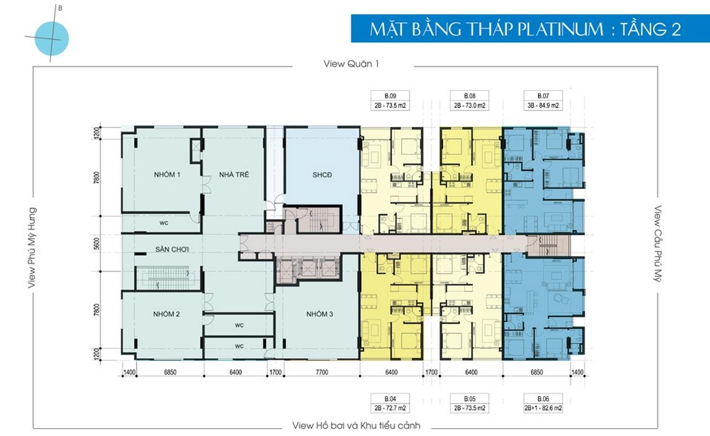Mặt bằng dự án căn hộ chung cư Luxcity Quận 7 Đường Huỳnh Tấn Phát chủ đầu tư Đất Xanh