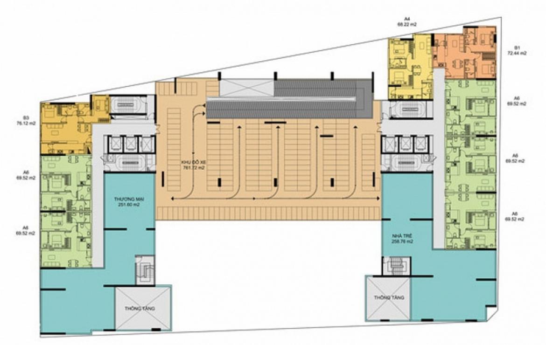 Mặt bằng dự án căn hộ chung cư The Golden Star Quận 7 Đường Nguyễn Thị Thập chủ đầu tư Hưng Lộc Phát cho thuê và bán lại