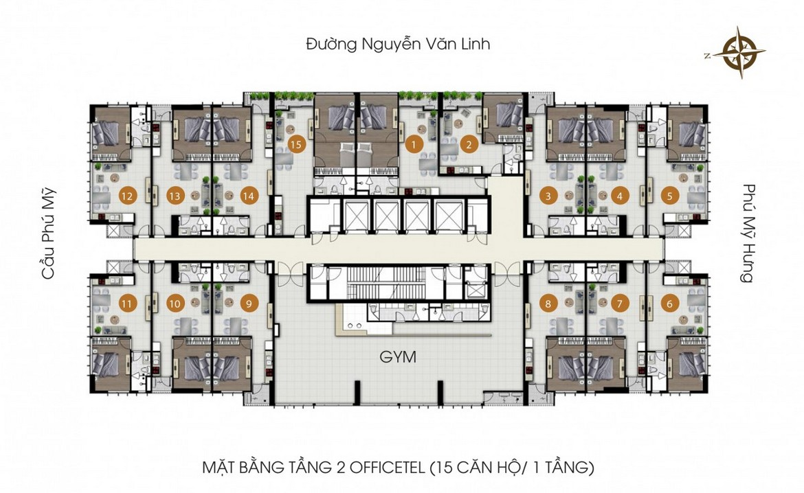 mat bang tang 2 officetel du an chung cu ascent lakeside quan 7