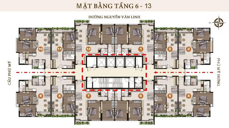 mat bang tang 6 - 13 du an can ho chung cu ascent lakeside quan 7