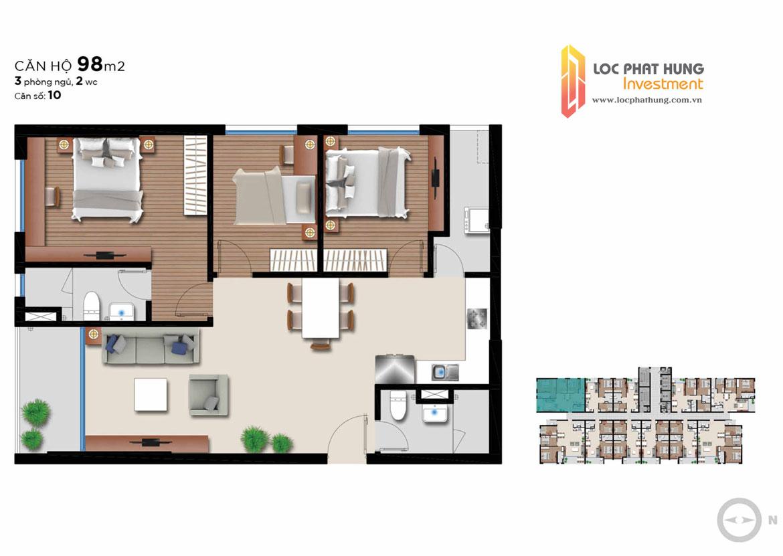 Thiết kế dự án căn hộ chung cư An Gia Riverside Quận 7 Đường 89 Hoàng Quốc Việt chủ đầu tư An Gia Investment