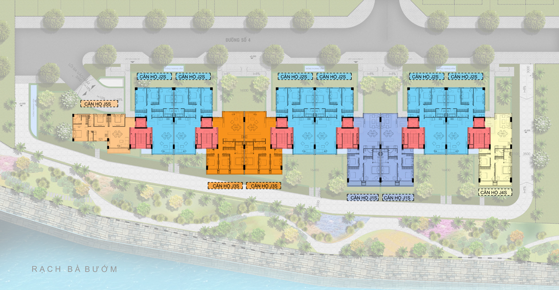 Mặt bằng dự án căn hộ chung cư Sky X Quận 7 Đường Đào Trí chủ đầu tư TTC LAND