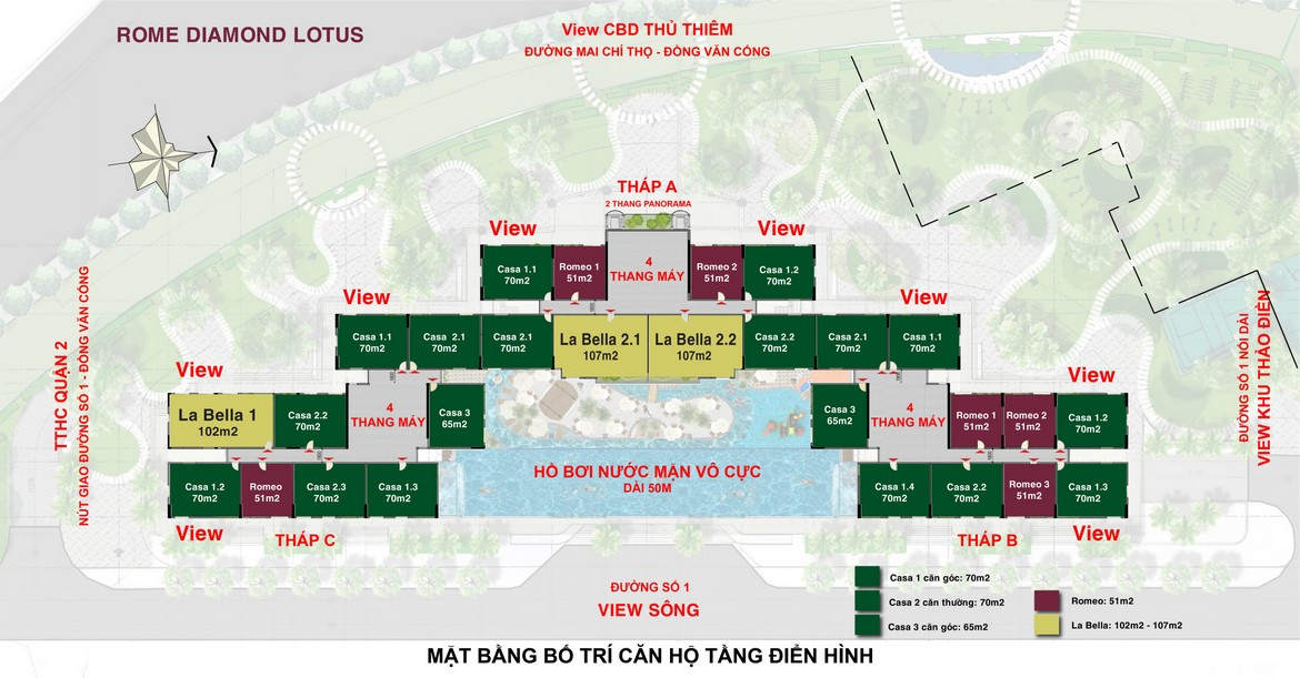 mat bang tong the du an rome by diamond lotus