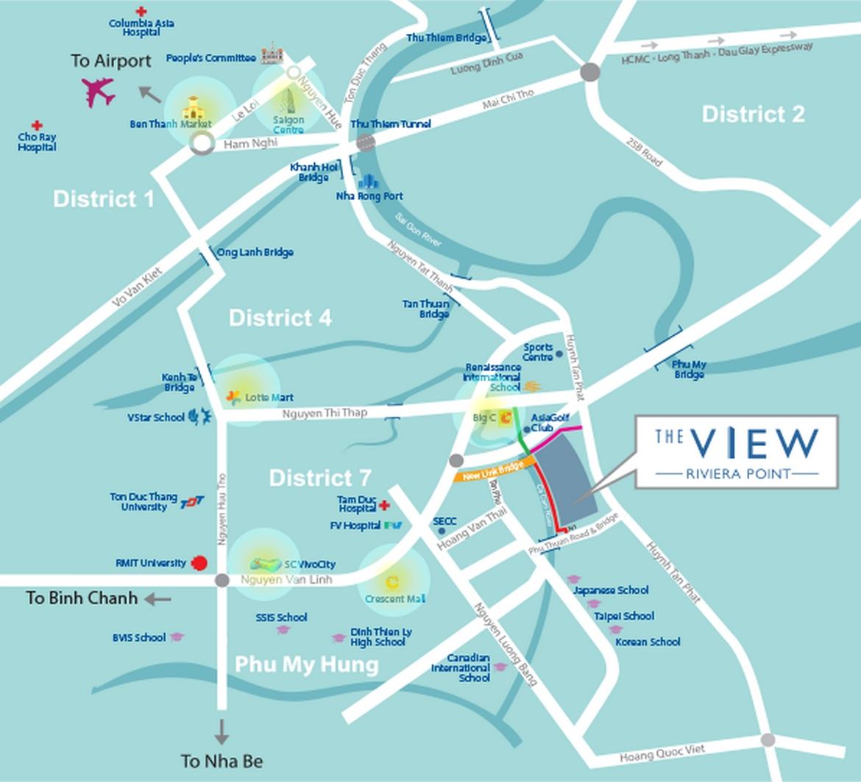 Mua bán cho thuê dự án căn hộ chung cư The View Riviera Point Quận 7 Đường Huỳnh Tấn Phát chủ đầu tư Keppel