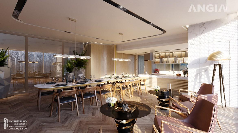 Khu vực ăn tối và chế biến hải sản tại căn hộ du lịch condotel The Sóng Vũng Tàu