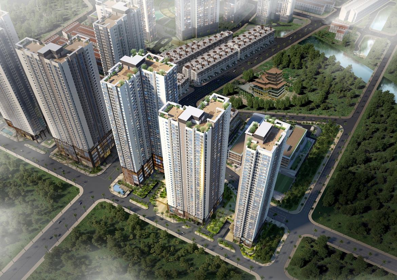 Phối cảnh dự án căn hộ chung cư Laimian City Quận 2 Đường Lương Đình Của chủ đầu tư HDTC