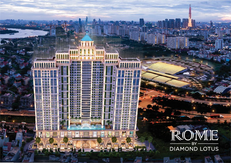 phoi canh tong the du an rome diamond lotus 13