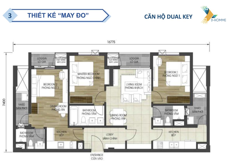 Thiết kế dự án căn hộ chung cư D Homme Quận 6 Đường Hồng Bàng chủ đầu tư DHA