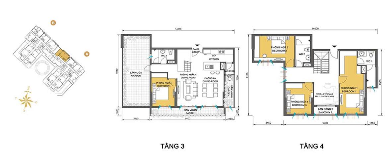 Mặt bằng dự án căn hộ chung cư Masteri Thảo Điền Quận 2 Đường Xa lộ Hà Nội chủ đầu tư Thảo Điền Investment