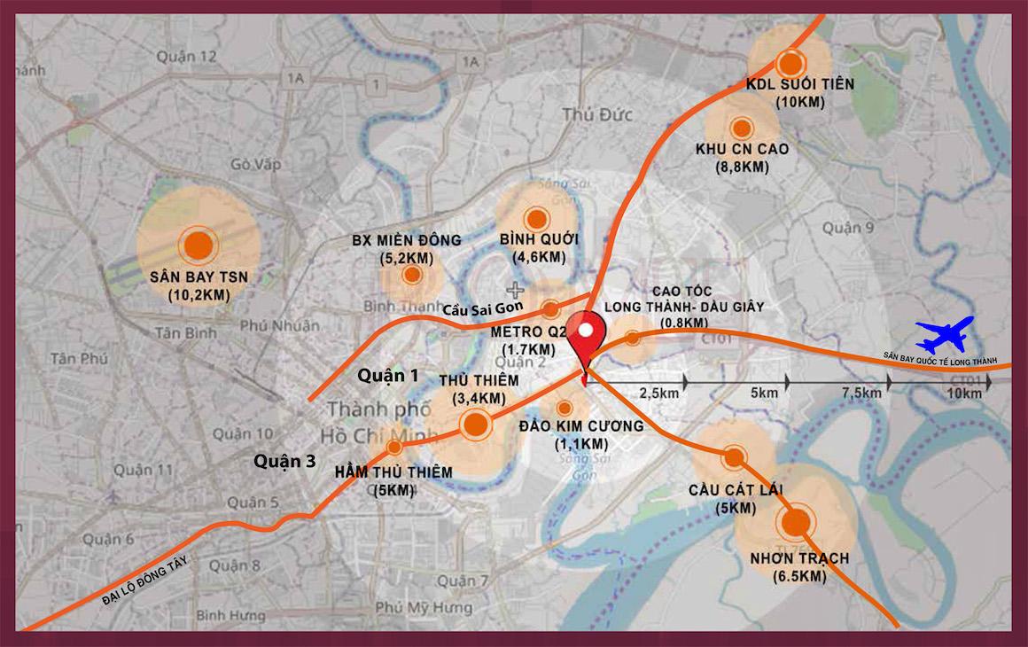 Liên kết vùng dự án căn hộ chung cư D'lusso Quận 2 ngay mặt tiền Nguyễn Thị Định. Liên hệ: 0949893893 xem thực tế vị trí dự án