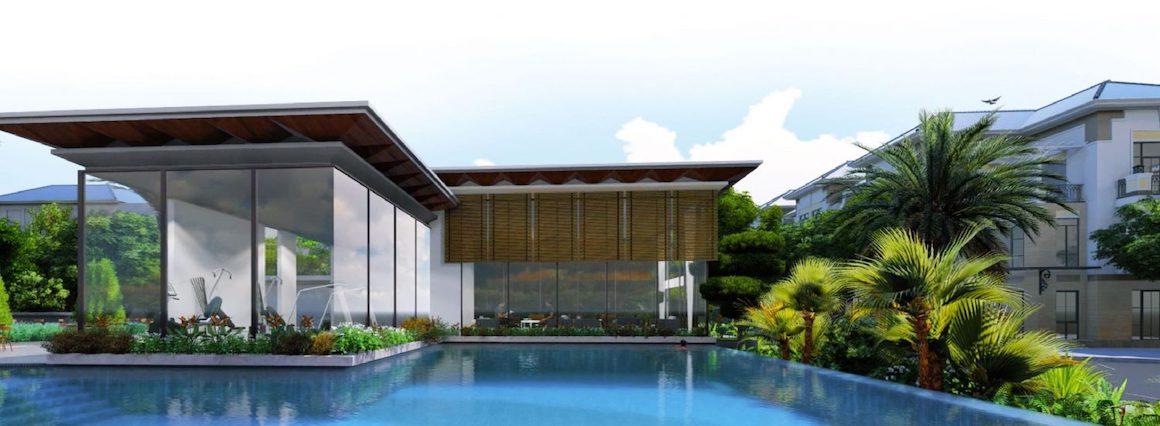 Tiện ích dự án Verosa Park Khang Điền Quận 9 - Hồ bơi tràn bờ