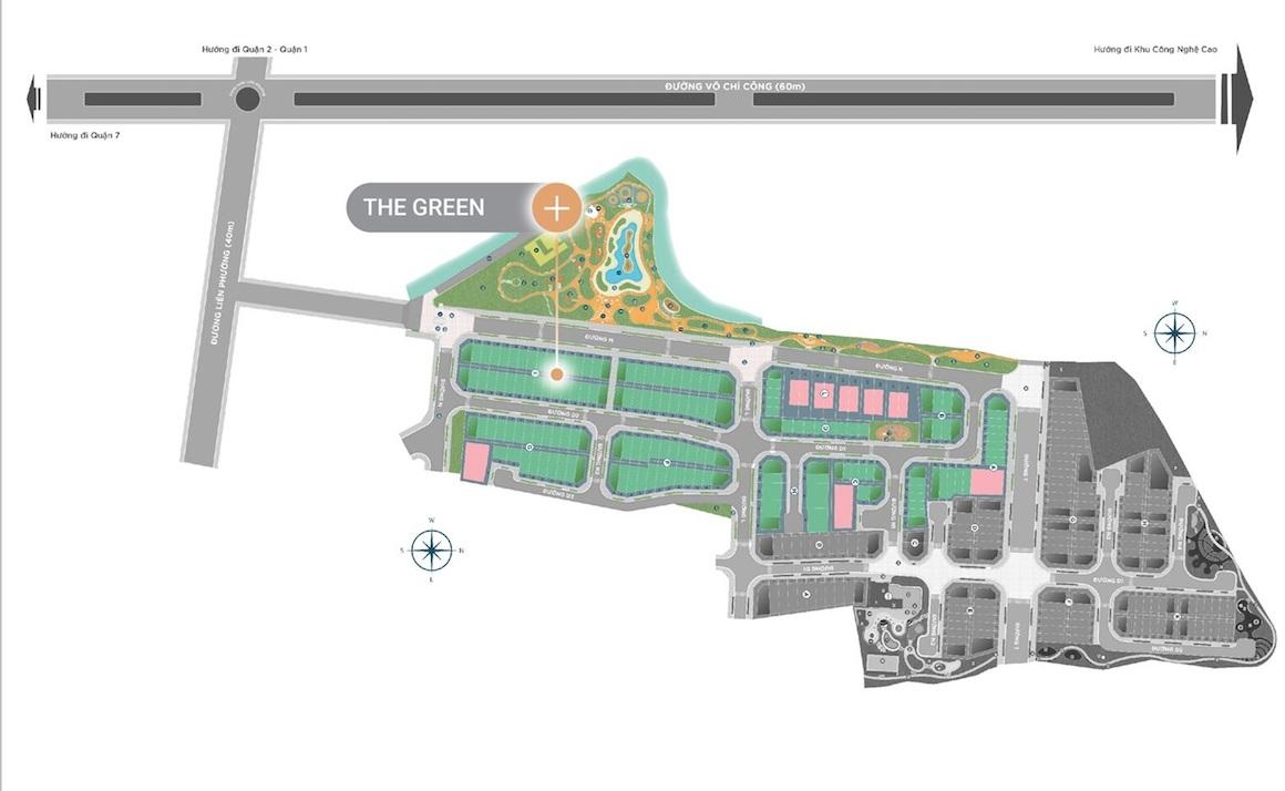 Mặt bằng dự án Verosa Park Khang Điền Quận 9 khu The Green