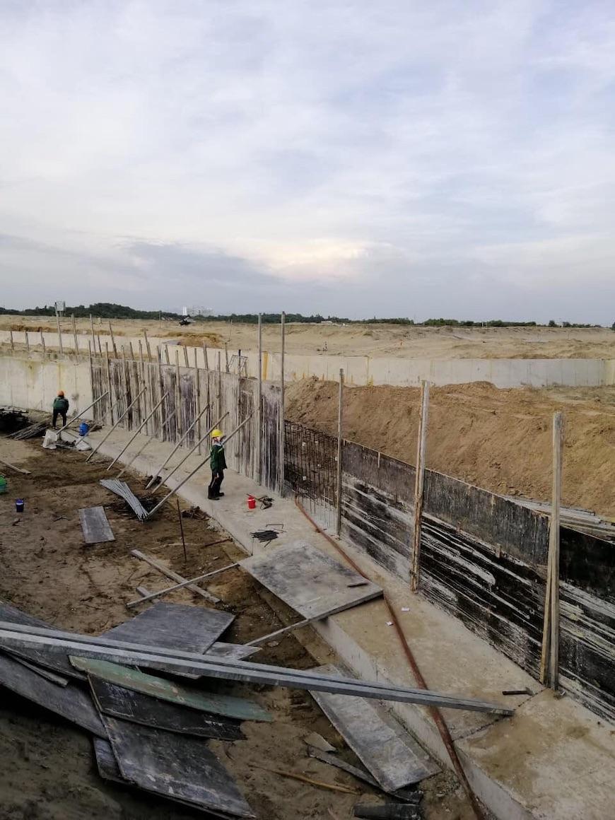 Tiến độ xây dựng dự án căn hộ condotel biệt thự The Maris Vũng Tàu, Đang triển khai móng khu biệt thự