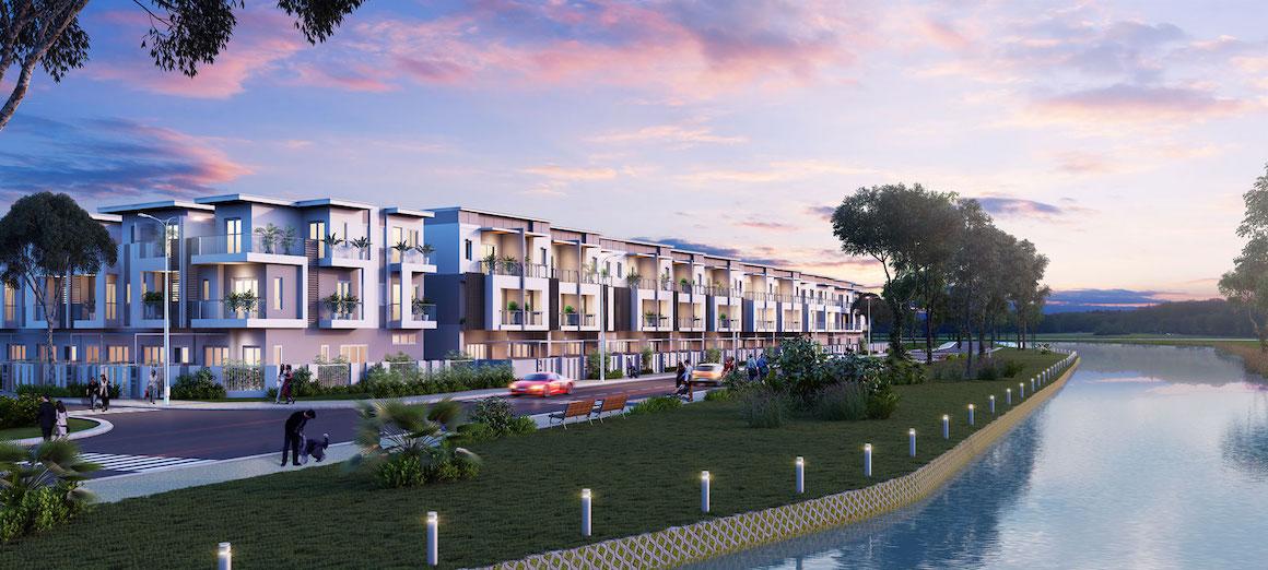 Phối cảnh khu nhà phố Verosa Park trong tương lai trở thành khu đô thị cao cấp của CĐT Khang Điền