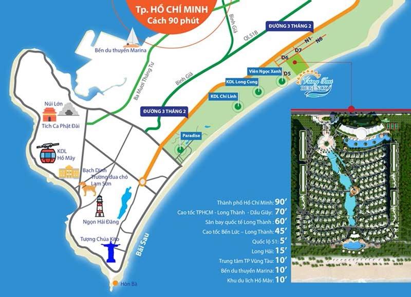 Vị trí của dự án biệt thự và condotel The Maris Vũng Tàu vi tri du an condotel vung tau the maris vung tau 5