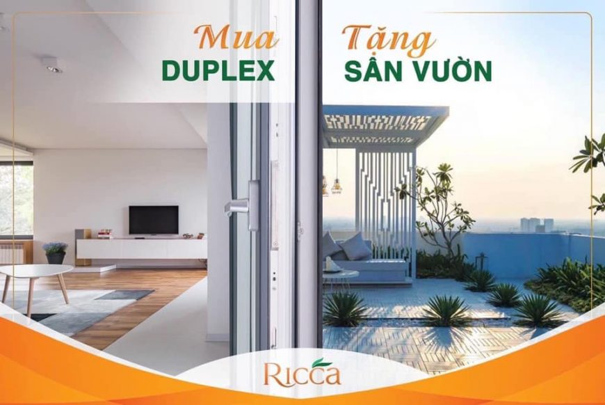 Mua duplex căn hộ Ricca được tặng ngay sân vườn