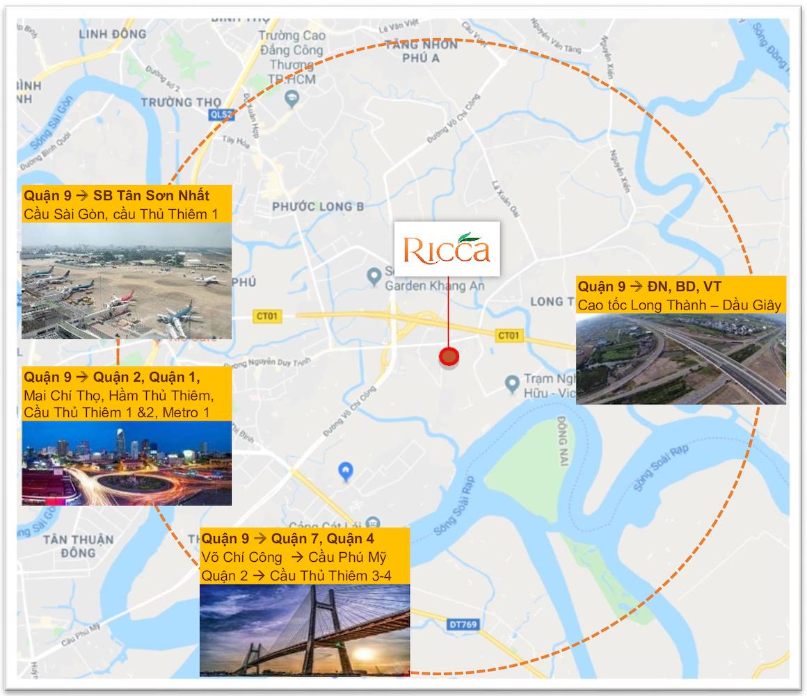 Kết nối giao thông dự án căn hộ Ricca Quận 9