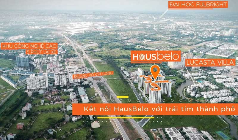 Căn hộ Hausnima - So sánh giá bán với các dự án lân cận ket noi vi tri hausbelo q9