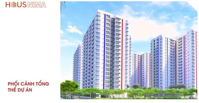 Phối cảnh tổng thể dự án căn hộ chung cư Hausnima Quận 9 mat bang tong the du an can ho chung cu hausnima quan 9 1