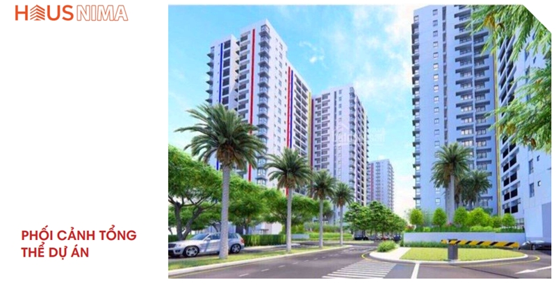 Phối cảnh tổng thể dự án căn hộ chung cư Hausnima Quận 9 mat bang tong the du an can ho chung cu hausnima quan 9 2