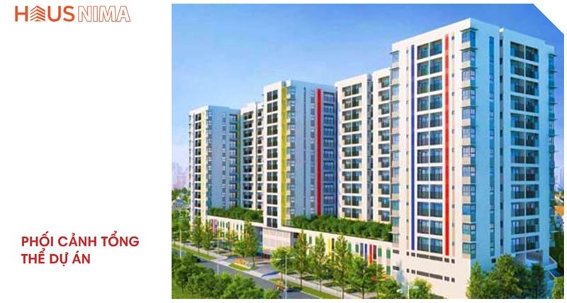 Phối cảnh tổng thể dự án căn hộ chung cư Hausnima Quận 9 mat bang tong the du an can ho chung cu hausnima quan 9