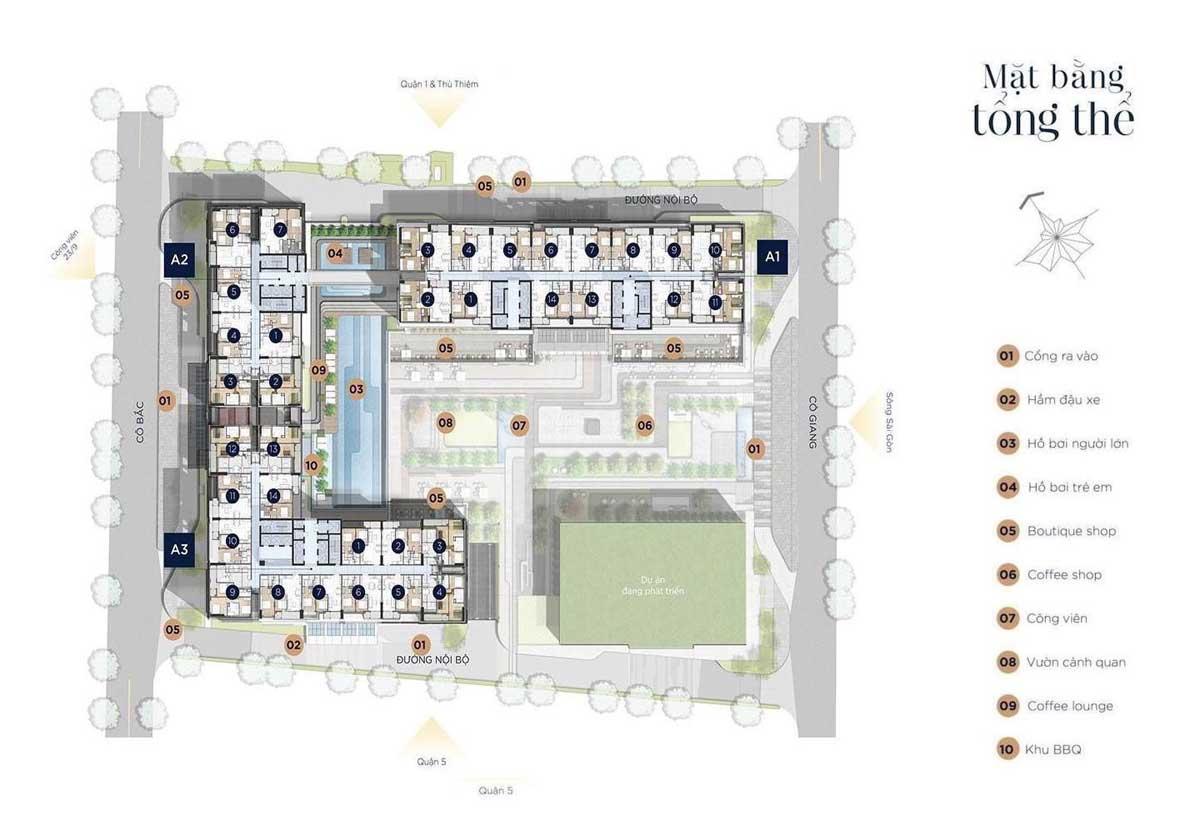 Mặt bằng dự án Soho Residence