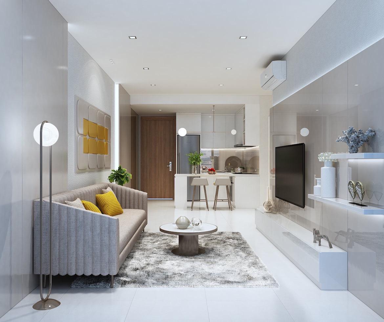 Thiết kế phòng khách căn hộ Ricca Quận 9