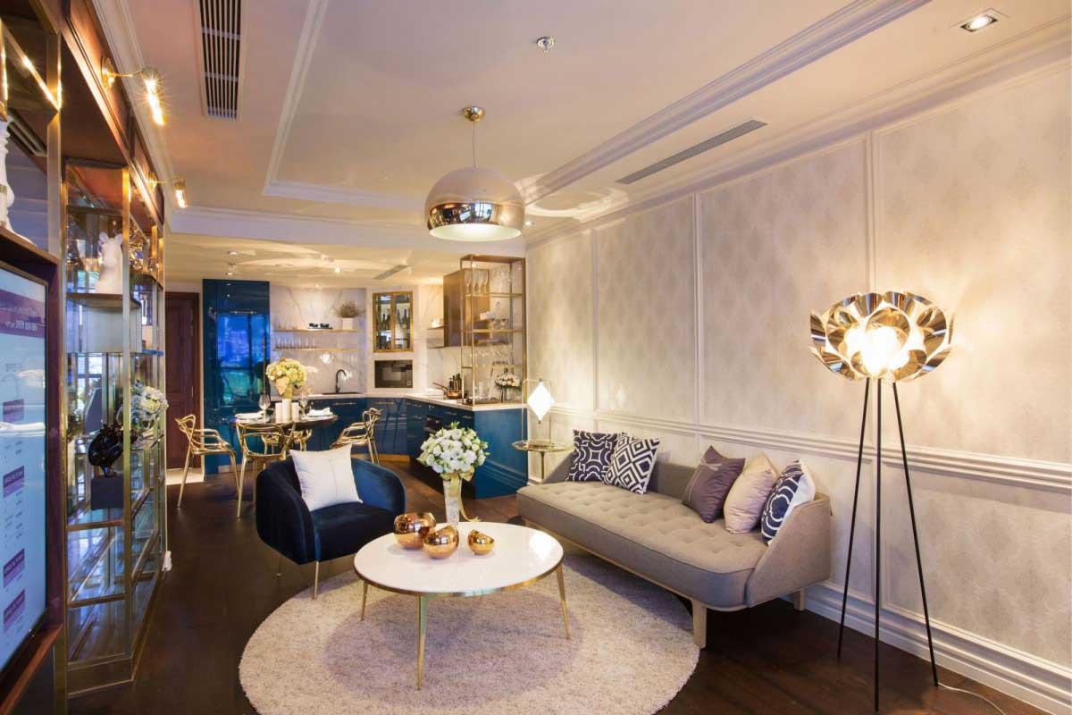 Phòng khách căn hộ Soho Residence quận 1