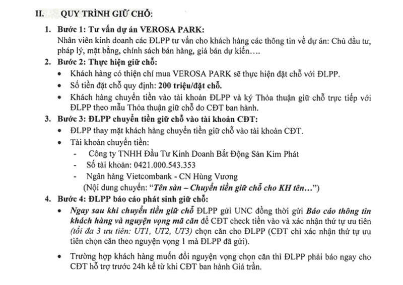 Quy trình giữ chỗ dự án Verosa Park Khang Điền quận 9 quy trinh giu cho khi mua du an verosa park khang dien quan 9 1