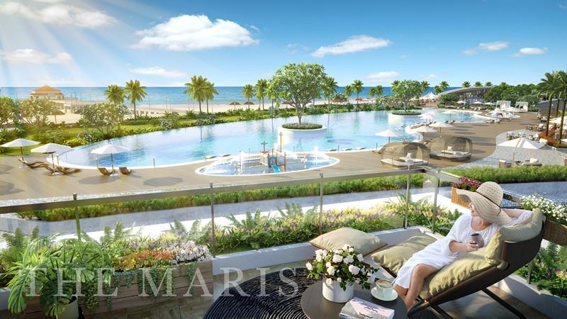 The Maris nằm tại biển Chí Linh Vũng Tàu với vẻ đẹp nguyên sơ, tự nhiên the maris vung tau balcony villa 1