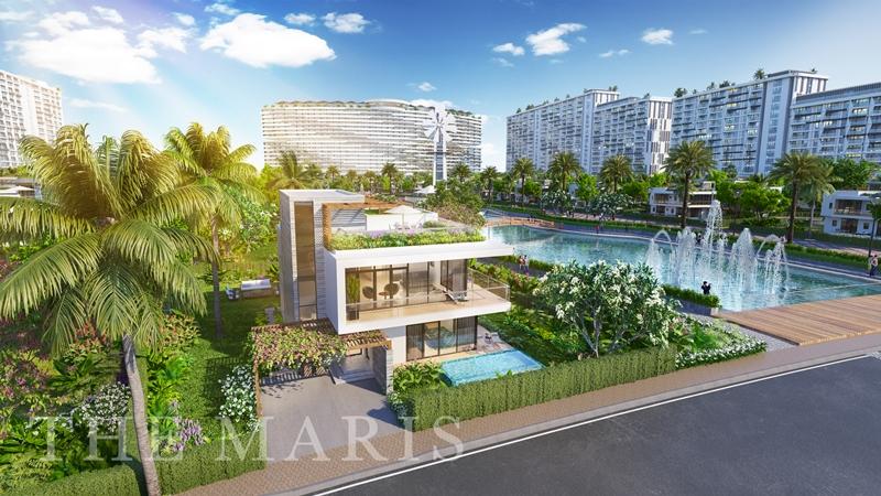 The Maris Vũng Tàu - Một Điểm Đến Vạn Niềm Vui với hơn 60 tiện ích the maris vung tau facade villa 1 trua