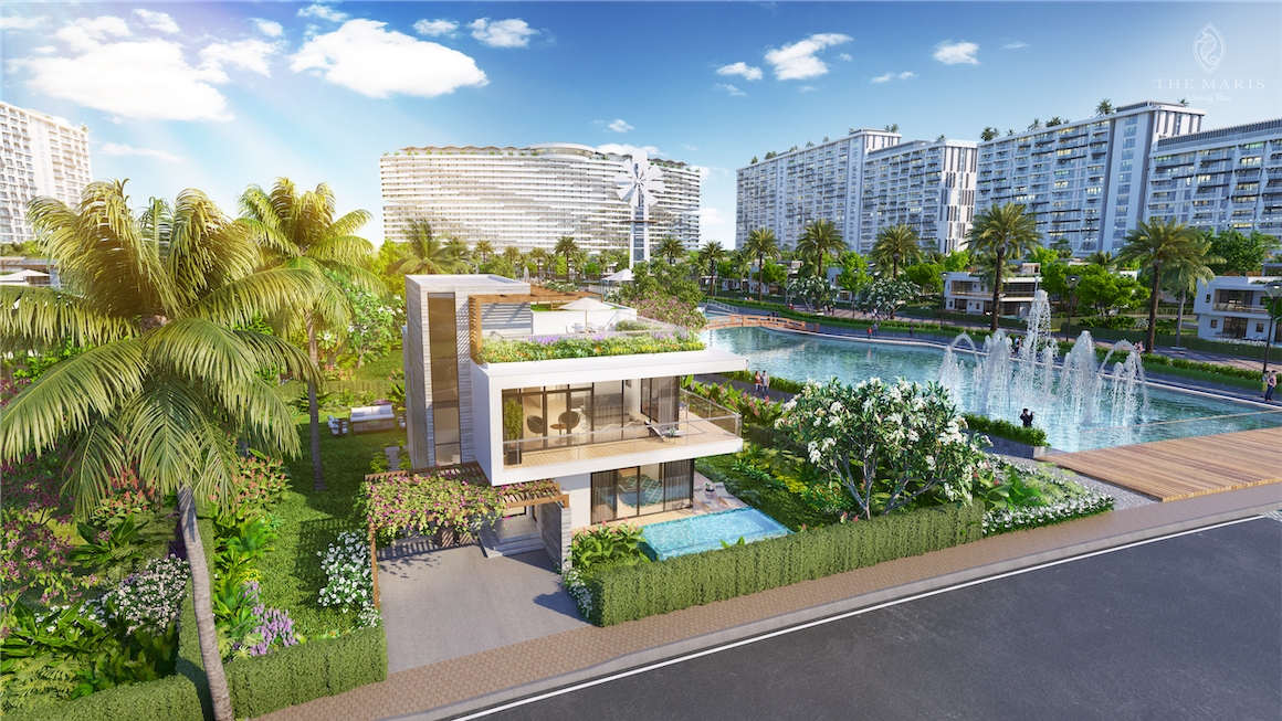 Thiết kế biệt thự Facade Villa trong khu biệt thự Senerity The Maris Vũng Tàu