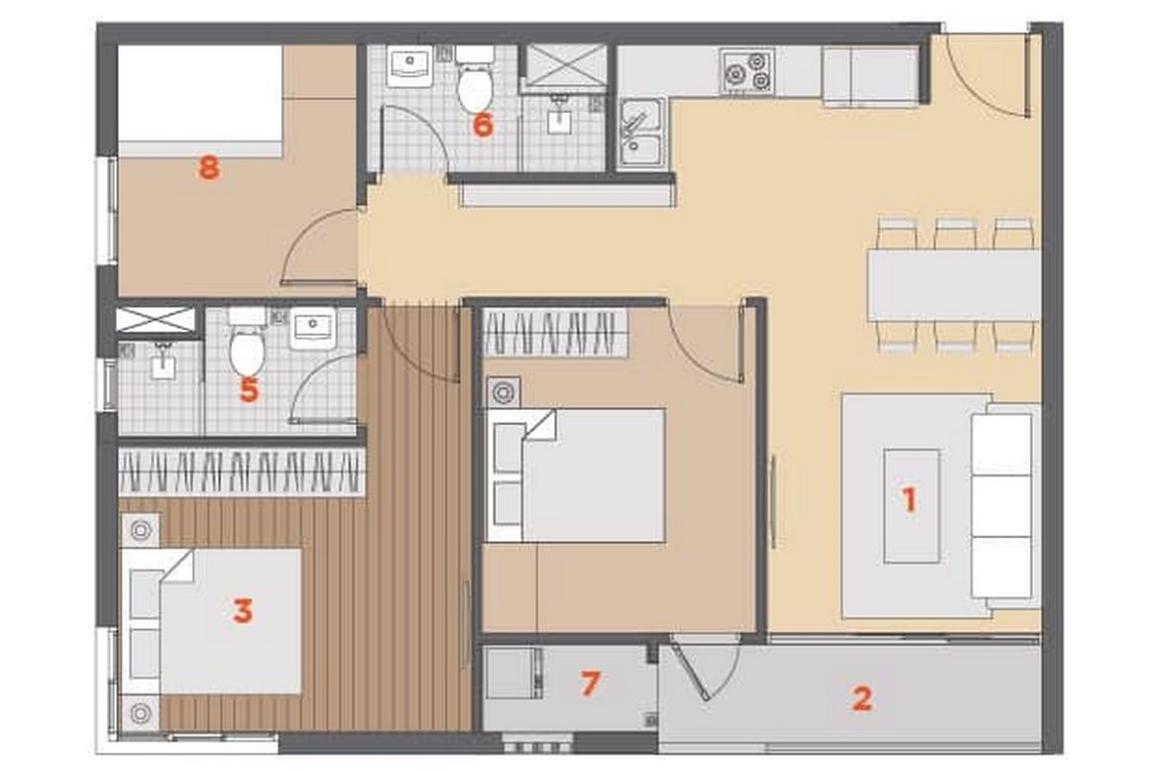 Thiết kế căn hộ Hausnima 3PN